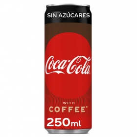 Refresco de cola Coca Cola plus coffee sin azucar lata 25 cl.