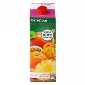 Zumo multifrutas Carrefour exprimido brik 1 l.