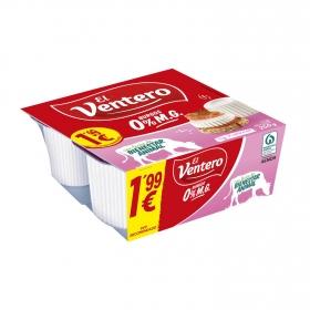 Queso fresco light El Ventero sin gluten pack de 4 unidades de 62,5 g.