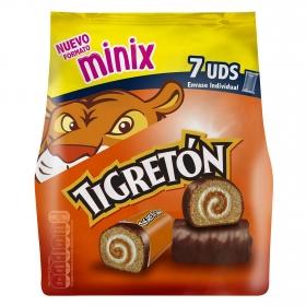 Pastel Tigretón mini Bimbo pack de 7 unidades de 23 g.