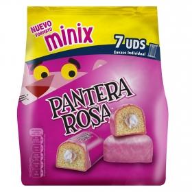Pastel Pantera Rosa mini Bimbo pack de 7 unidades de 23 g.