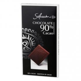 Chocolate negro 90% Carrefour Selección 80 g.