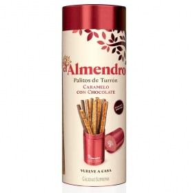 Palitos de turrón de caramelo con chocolate El Almendro 12 ud.