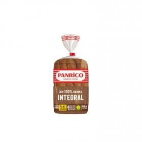 Pan de molde 100% harina integral sin azúcares añadidos Panrico 385 g.