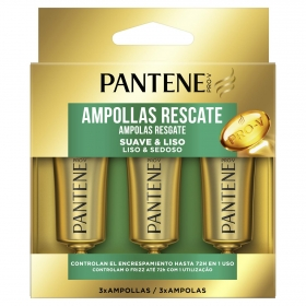 Ampollas liso extremo 1 minuto Pantene 3 unidades de 15 ml.