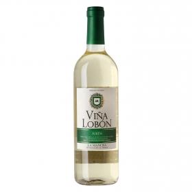 Vino D.O. Mancha blanco Airén Viña Lobón 75 cl.