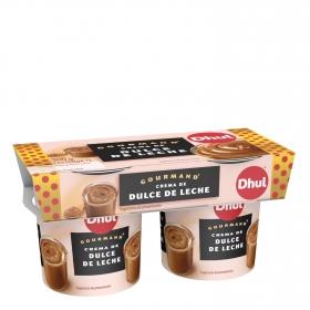Crema de  dulce de leche Dhul Gourmand pack de 2 unidades de 150 g.