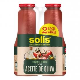 Tomate frito con aceite de oliva Solís pack de 2 tarros de 460 g.