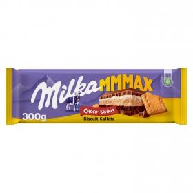 Chocolate con leche relleno de galleta, leche y chocolate Milka 300 g.