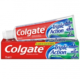 Dentífrico Triple Acción Menta Original Colgate 75 ml.