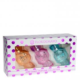 Agua de colonia Flor de Mayo pack de 3 unidades de30 ml.