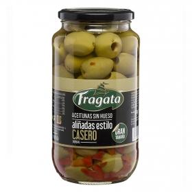 Aceitunas gordal sin hueso aliñadas al estilo casero Fragata 450 g.
