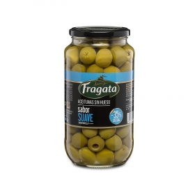 Aceitunas manzanilla sin hueso sabor suave Fragata 450 g.