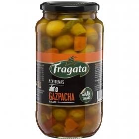 Aceitunas manzanilla aliñadas estilo gazpacha Fragata 595 g.