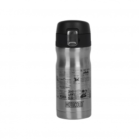 Termo Clásico de Acero Inoxidable Hot & Cold 6,5cm - Inox