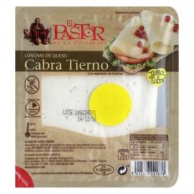 Queso de cabra tierno en lonchas El Pastor 70 g.