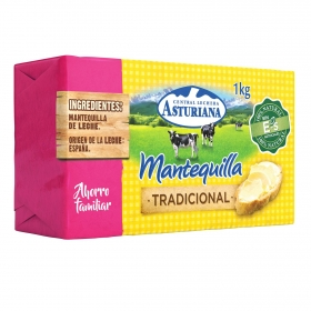 Mantequilla tradicional Central Lechera Asturiana 1 kg.