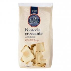 Pan tostado focaccia genovese en trozos Terre d'Italia 150 g.