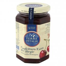 Confitura de cereza categoría extra Terre d'Italia 340 g.