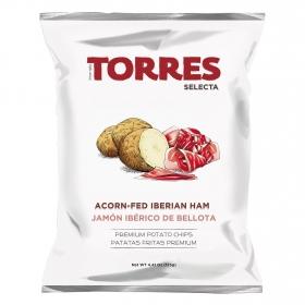 Patatas fritas sabor jamón ibérico de bellota Torres 150 g.