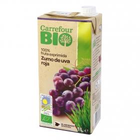 Zumo de uva roja ecológico Carrefour Bio brik 1 l.