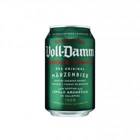 Cerveza Voll Damm doble malta lata 33 cl.