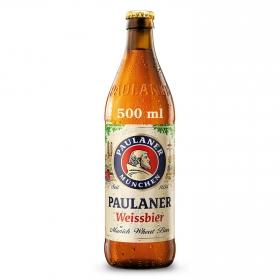 Cerveza rubia Paulaner Weissbier botella 50 cl.
