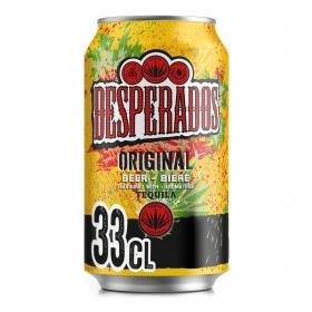 Cerveza Desperados con tequila lata 33 cl.