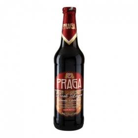 Cerveza Praga negra lager botella 50 cl.