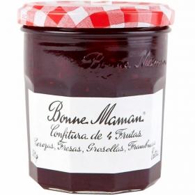 Confitura de cuatro frutas categoría extra Bonne Maman 370 g.