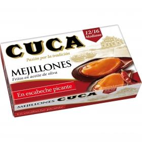 Mejillones en escabeche picantes Cuca 69 g.