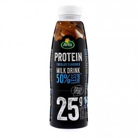 Batido de proteínas sabor chocolate 50% menos azúcar Arla 500 ml.