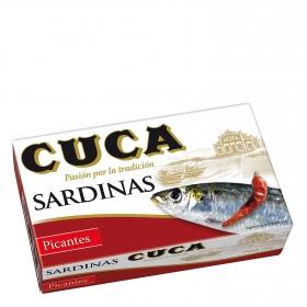 Sardinas picantes Cuca 120 g.