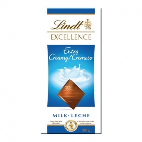 Chocolate con leche extra cremoso Lindt Excellence 100 g.