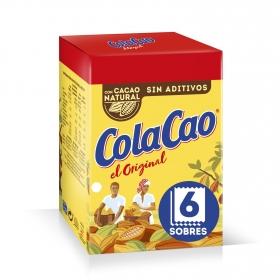 Cacao soluble Cola Cao pack de 6 unidades de 18 g.