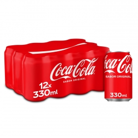 Refresco de cola Coca Cola pack de 12 latas de 33 cl.