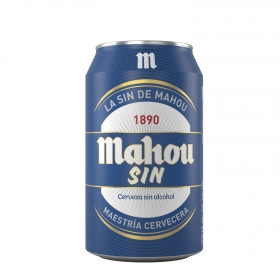 Cerveza Mahou Sin alcohol lata 33 cl.