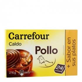 Caldo de pollo Carrefour 24 pastillas