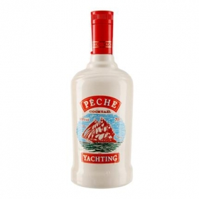 Licor de whisky Yachting sabor melocotón 70 cl.