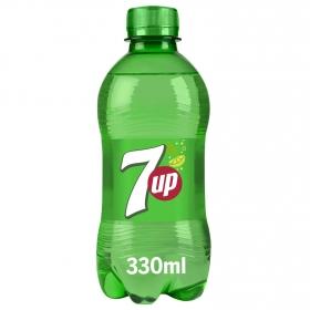 Refresco de lima-limón 7UP con gas botella 33 cl.