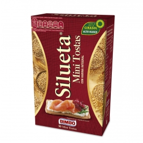 MIni tostas integrales Bimbo Silueta 100 g.