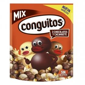 Cacahuete cubierto de tres chocolates Conguitos sin gluten 350 g.
