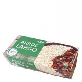 Arroz largo para microondas Carrefour pack de 2 ud. de 150 g.