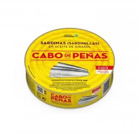 Sardinillas en aceite de girasol Cabo de Peñas 385 g.