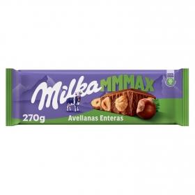 Chocolate con leche y avellanas enteras Milka 300 g.