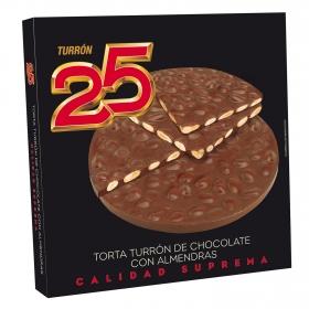 Torta de turrón de chocolate con almendras Turrón 25 150 g.