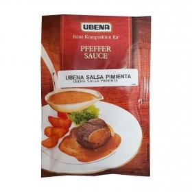 Salsa a la pimienta Ubena sobre 40 g.
