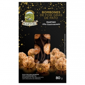 Bombones de foie gras de pato Martiko 100 g.