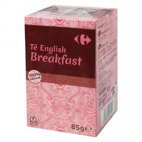 Té English Breakfast en bolsitas Carrefour 50 ud.