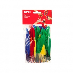 Bolsa de Plumas Colores Surtidos 100 uds